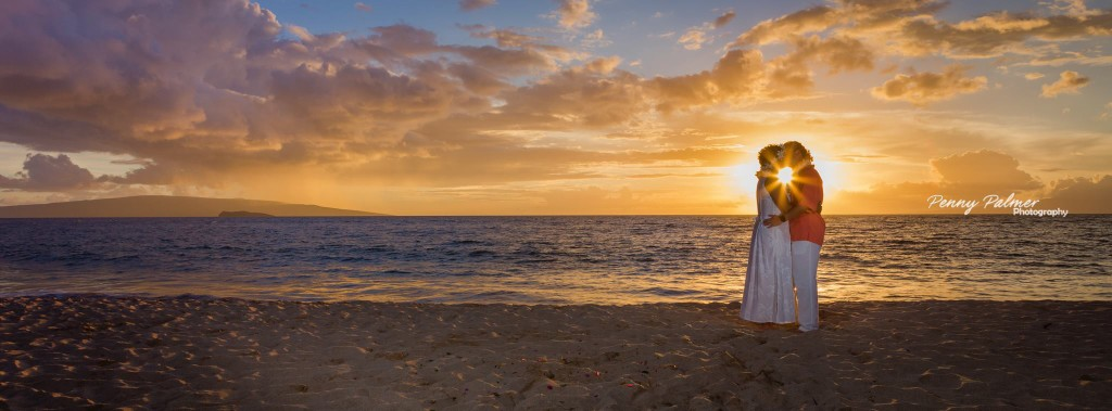 Maui weddings sunset