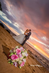 Romantic maui wedding photography
