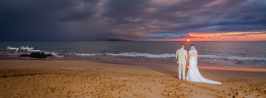 maui wedding sunset